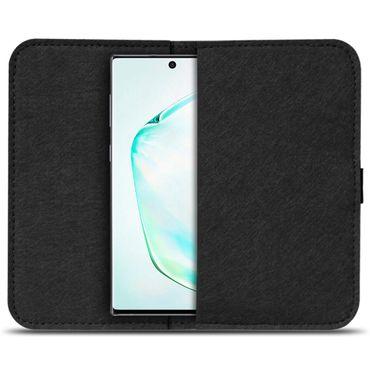 Handy Hülle für Samsung Galaxy Note 10 Filz Tasche Schutzhülle Schutz Cover Case – Bild 3