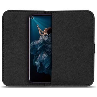 Handy Hülle Huawei Honor 20 Pro Filz Tasche Schutzhülle Schutz Cover Case Etui – Bild 3