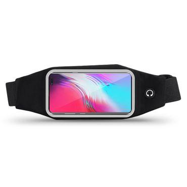 Handy Hülle Samsung Galaxy S10 5G Tasche Schwarz Bauchtasche Sport Schutzhülle – Bild 3
