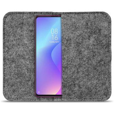 Handy Hülle für Xiaomi Mi 9T Filz Tasche Schutzhülle Filzhülle Cover Schutz Case – Bild 15
