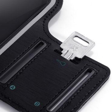 Schutzhülle für LG G8S ThinQ Handy Tasche Schwarz Sport Hülle Fitness Lauf Case  – Bild 3