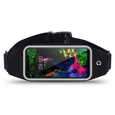 Handy Hülle LG G8S ThinQ Tasche Schwarz Bauchtasche Sport Fitness Schutzhülle – Bild 2