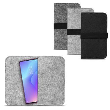 Handy Hülle Xiaomi Mi 9T Pro Filz Tasche Schutzhülle Filzhülle Cover Schutz Case – Bild 1