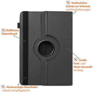 Hülle Samsung Galaxy Tab S6 Tasche Tablet Schutzhülle Cover 360 Drehbar Schwarz – Bild 4