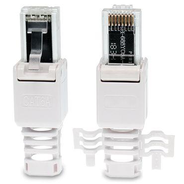 8x Netzwerkstecker CAT6A RJ45 Netzwerk Werkzeuglos CAT 5 / 6 / 7 LAN Patch Kabel – Bild 6