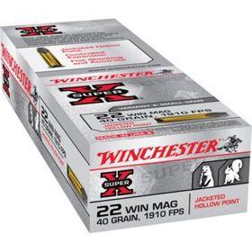 Winchester KK. Patronen .22WinMag Super-X  40gr JHP  a 50 St