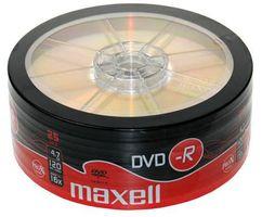 25 Maxell DVD-R 16x 4,7GB Rohlinge Rohling Shrink Neuware