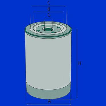 Ölfilter, Filter, Aufschraubfilter, Filterpatrone 1447031, z.B. Massey Ferguson, Kubota – Bild 2