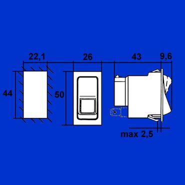 Schalter, Lichtschalter für Case, IHC Arbeitsscheinwerfer vorne 245917C1 * – Bild 2