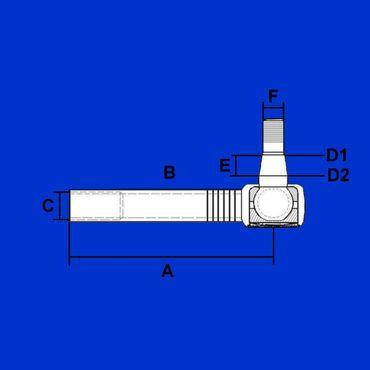 Kugelgelenk, Spurstangenkopf rechts für Fendt Favorit 700, Vario 800,  F716300100020 * – Bild 2