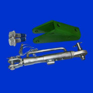 Set Stabilisator, Unterlenkerstrebe, Halter, Schrauben für John Deere Unterlenker 6 Zylinder – Bild 1