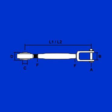 Set Stabilisator, Unterlenkerstrebe, Halter, Schrauben für John Deere Unterlenker 4 Zylinder – Bild 3