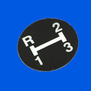 Aufkleber f Schaltknauf R - 2 - 1 - 3