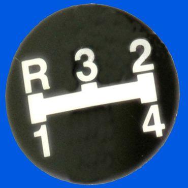 Aufkleber f Schaltknauf  R - 3 - 2 - 1 - 4
