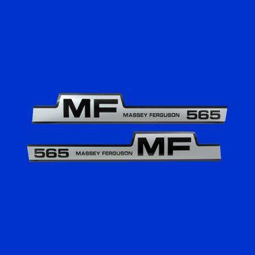 Haubenaufkleber, MF 565, Aufkleber Typenbezeichnung Motorhaube Massey Ferguson