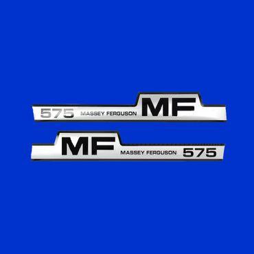 Haubenaufkleber, MF 575, Aufkleber Typenbezeichnung Motorhaube Massey Ferguson