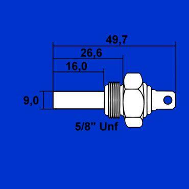 Temperaturfühler, Motortemperaturfühler, Temperaturgeber Kühlwasser, 5/8 Unf 1877731M92 * – Bild 2