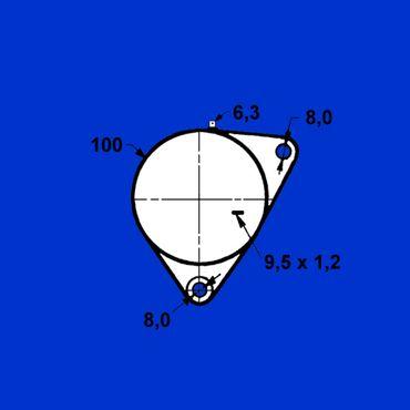12V Gleichstromlichtmaschine Lichtmaschine 11 Amp Vergl Nr 2871170 – Bild 3