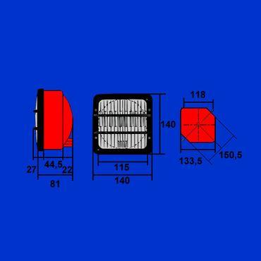 Scheinwerfer, Hauptscheinwerfer von COBO für Massey Ferguson und Same  DGM 7886 PMXLA – Bild 3