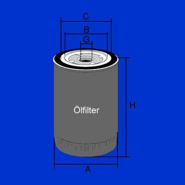 Ölfilter für John Deere T19044, W936.4  Filter für Motoröl, Öl, Aufschraubfilter – Bild 2