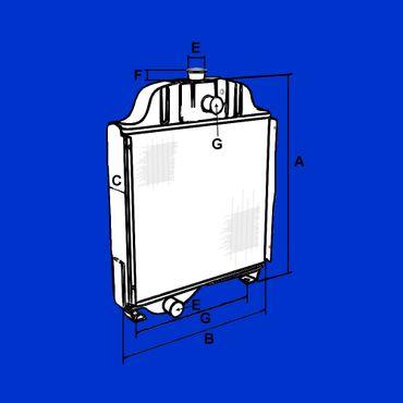 Kühler für John Deere 2250, 2450, 2650, 2850, 2855, Wasserkühler, Vergl. Nr AL56372 * – Bild 2