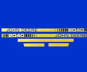 John Deere 2040 Haubenaufkleber, Aufkleber Motorhaube, Schriftzug, Typenbezeichnung, Modell, Serie