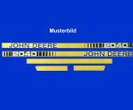 John Deere 2140 Haubenaufkleber, Aufkleber Motorhaube, Schriftzug, Typenbezeichnung, Modell, Serie 001