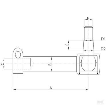 Kugelgelenk Kugelkopf Spurstange für John Deere links AL168705, 40er Serie – Bild 2