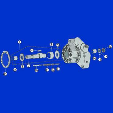 Hydraulikpumpe Pumpe für Hydraulik Hydrauliköl, 23ccm für John Deere 20er 30er 40er 50er Serie – Bild 2