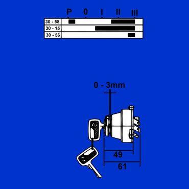 Lichtschalter Deutz 06 + 07 Serie mit 2 Schlüssel, Zündlichtschalter, 01171411 * – Bild 3