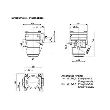Druckbegrenzungsventil Bremse, Druckluftbremse Fendt, John Deere, F186880020010, AL67648 * – Bild 2