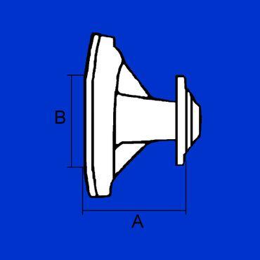 Wasserpumpe 98mm Schaufelrad Case IHC 43, 44, 45, 56 Serie + 353, 383, 423, 453, 523, 553, 624, 724, 824, Vergl 3136217 – Bild 3