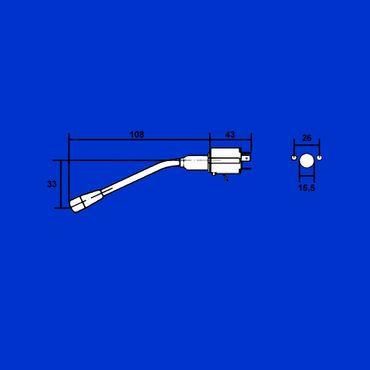 Case, IHC, Lenkradschalter, Blinkerschalter, Multifunktionsschalter 26° gebogen 3057633R91 – Bild 2