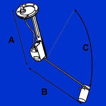 Tankgeber für Case IHC 433 - 833, 743, 644 - 844, 45 Serie,  Typ VDO 3057574R93 * – Bild 2