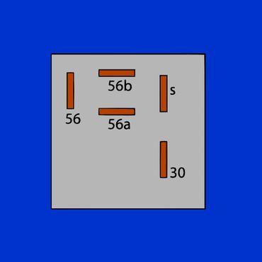 Relais, Scheinwerferrelais Case, IHC für Fernlicht 2 x 150 Watt 3221178R1 – Bild 3