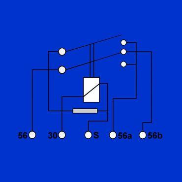 Relais, Scheinwerferrelais Case, IHC für Fernlicht 2 x 150 Watt 3221178R1 – Bild 2