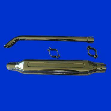 Auspuff 46mm für Fiat, Fiatagri Schalldämpfer + Endrohr emailliert 5157240 *