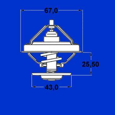 Thermostat für Mercedes Benz Unimog + MB Trac Motor OM314, 352, 364, 366 – Bild 2