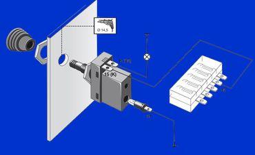 Hella Schalter, Zugschalter mit Kontrolleuchte – Bild 3