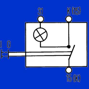 Hella Schalter, Zugschalter mit Kontrolleuchte – Bild 2