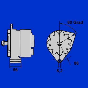 Mahle Lichtmaschine für Fendt Farmer 100, 200, GT, IHC, Zetor, 14V, 33A, IA0507 – Bild 1