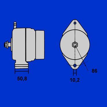 95A Lichtmaschine Mahle MG13 für Case Maxxum, CS, MX, IA0875, A187623 * – Bild 3