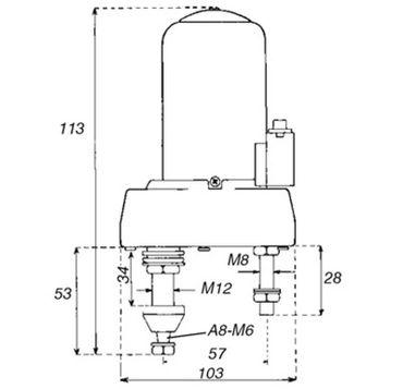 Wischermotor, Scheibenwischermotor, Motor für Scheibenwischer 12V 135 Grad M6 mit Schalter – Bild 2