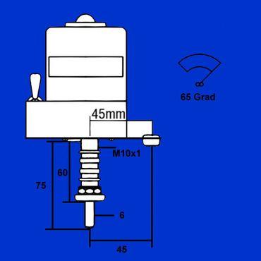 65 Grad Scheibenwischermotor, Zylind 6mm, Motor, Scheibenwischer, Wischermotor, Peko – Bild 2