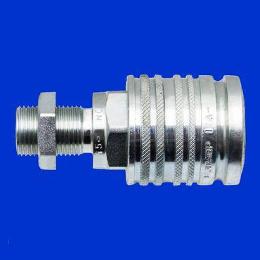 Hydraulikmuffe, BG3, 15 L, M22x1,5 Schott, Hydraulikkupplung, Muffe, Hydraulik – Bild 1
