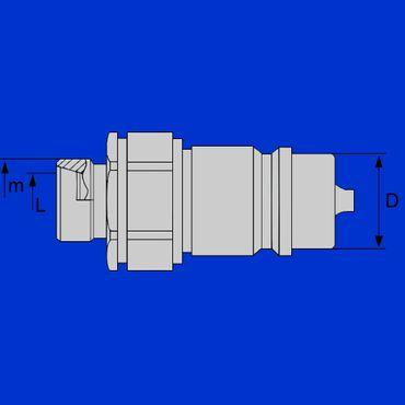 Hydraulikstecker BG 3, 8L, M14x1,5 Standard, Stecker, Steckkupplung, Kupplungsstecker – Bild 2