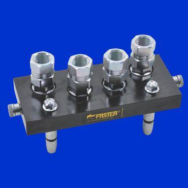 4 fach Faster Hydraulikkupplung Mobilteil 2PS06412GMC