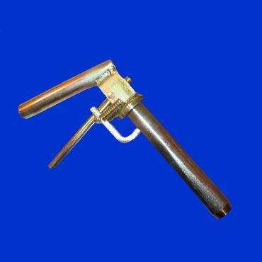 Bolzen / Sticken mit Federgriff D = 31mm  L =155mm, für Anhängerkupplung