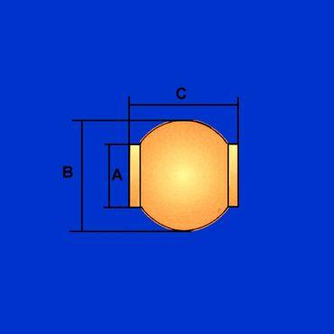 Oberlenkerkugel Kat 3 – 2 (60 – 25,4mm) Kugel für Fanghaken Oberlenker, verzinkt – Bild 2