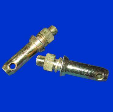 2 Stück Unterlenkerbolzen, Gerätebolzen Kat II = 28mm, Aufnahme Dreipunkt Unterlenker – Bild 1